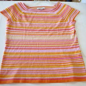 Liz Claiborne NY full fashion sweater knit top Lg